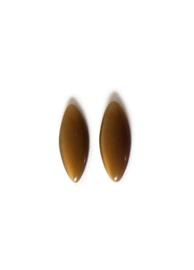 CAB - GLAS CABOCHON CATEYE TOPAZ / 25 X 12MM