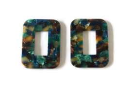 KOOPJE - RESIN HANGER MULTI COLOR / 55 X 30MM