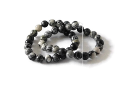 "NST.54 - NETSTONE ""NATURAL BLACK SILK STONE ""/ 8MM"