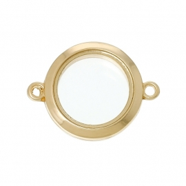 6. FLOATING MEMORY LOCKET CONNECTOR GOUD / 25MM