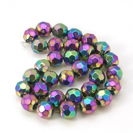 "MC.5 - FACET KRALEN ROND ""RAINBOW"" / 10MM"