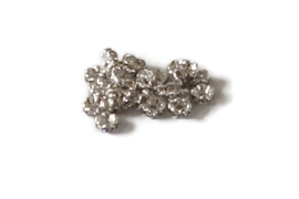 STR.200 - STRASS RONDELLEN ZILVER CRYSTAL / 6 X 3MM