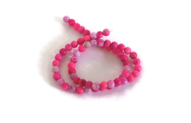 """NST - AGAAT """"NATURAL DYED"""" ROZE / 6MM"""