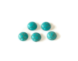 169 - TURQUOISE CABOCHON / 8 X 4MM