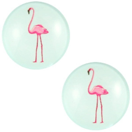 CABOCHON FLAMINGO LICHT TURQUOISE GROEN / 20MM