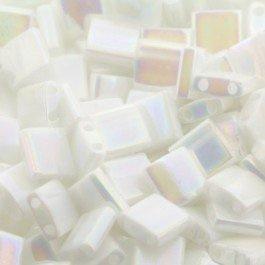TL-0471 - MIYUKI TILA WHITE PEARL AB / 5 X 5 x 1,9MM