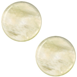 "POL.9 - POLARIS CABOCHON PLAT PARELMOER ""TEA GREEN"" / 12MM"