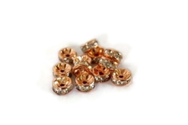 STR.81 - STRASS RONDELLEN ROSE GOLD / 6MM