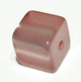 11. POLARIS 4-KANT VINTAGE ROZE GLANZEND / 6 X 6MM