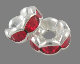 STR.206 - STRASS RONDELLEN HYACINTH ROOD / 6 X 3MM