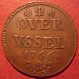 Overijssel , Duit 1766      Ov73/KM102/V145.5 (9890)