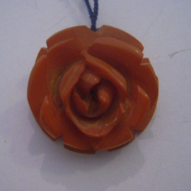 1930/40's German WHW don.gift Gau ? Rose pendant. Synthetic resin  (14628)