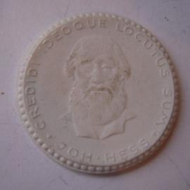 1923 Breslau / Wroclaw (POL) , Poor Sinner's Bell donation - Johann Hess (Lutherian theologian). Max. 500 pcs made !! Meissen Porcelain 34mm Sch693n- VIII (14855)