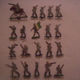 1920's - WWII German infantry , 20x flat 30mm scale. Spenkuch - Nürnberg (15746)