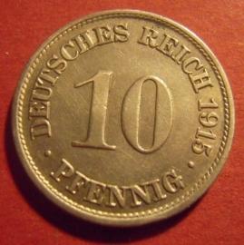 10 Pfennig 1915 A       J13/KM12 (6444)