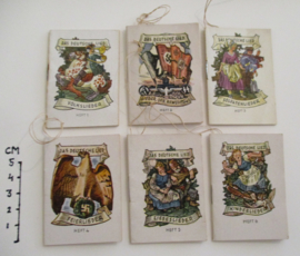 1942-10-24/25 German WHW donation booklet. The German song - Complete set of 6 booklets T511-516 (16211)
