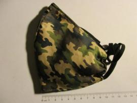 Gezichtsmasker camouflage/zwart maat L