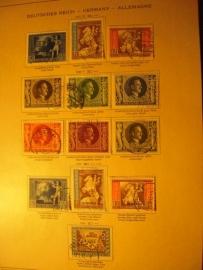 1942-43  , 13x Deutsche Briefmarken des Drittes Reiches WK II       (8354)