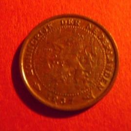 Wilhelmina -  ½ Cent 1937. Bronze KM138 (3914)