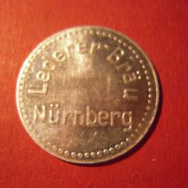 Nürnberg - Lederer Bräu , ½ liter beer no date Al  M19208.2 (6840)
