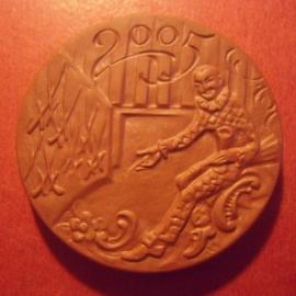 2005 Meissen , Tag der offenen Tür. Meissen Porzellan braun 53mm (11298)