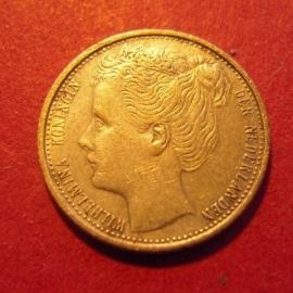Wilhelmina - 10 Cent 1903. Near Xf !!! Silver KM135 (7316)