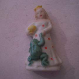 1944 spring German WHW donation gift. Fairy tales - The Frog Prince. Porcelain glazed !!! T580.2 (15874)