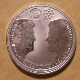 Beatrix - 10 Euro 2002 - Marriage Maxima and Willem-Alexander. Unc !!! Silver !!! KM243 (12786)