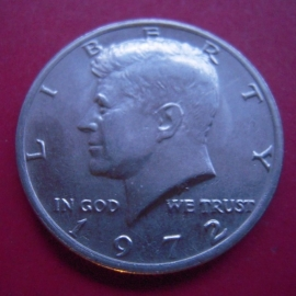 USA , Half Dollar 1972 - Kennedy. CuNi KM202b          (4059)