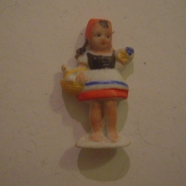 1944 Spring German WHW  donation gift. Fairy tales - Little Red Cap. Porcelain 39mm T586.1 (13661)