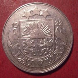 Erste Republik Lettland , 50 Santimu 1922      KM6 (12542)