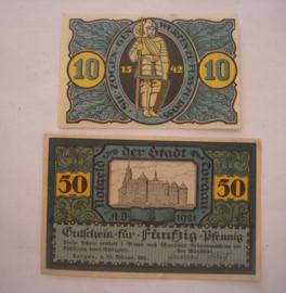 Torgau , 10 + 50 Pfennig 1921. GM1331 (16041)