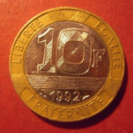 10 Francs 1992     KM964.1 coin alignment (11711)