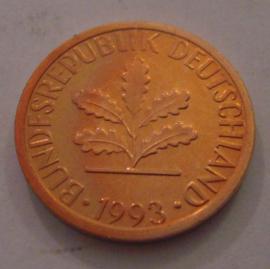 Germany - BRD - 1 Pfennig 1993 G   Unc !!!     J380/KM105 (14974)