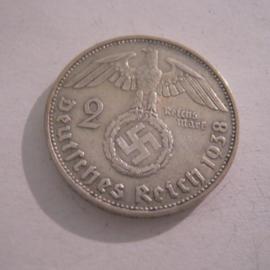 Third Reich - 2 Reichsmark 1938 J. Silver J366/KM93 (16158)