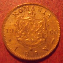 Königreich Rumänien , Carol I , 1 Ban 1900      KM26 (11323)
