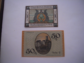 Borna , 10 + 50 Pfennig 1919. (16044)