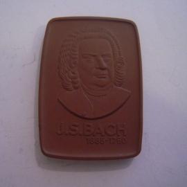 1970 Leipzig , Johann Sebastian Bach. Meissen Porcelain 60x42mm W5298.1 - III (14650)
