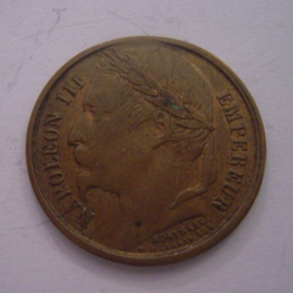 France - Napoleon III , Restoration empire 1852 medal brass 23mm (15224)