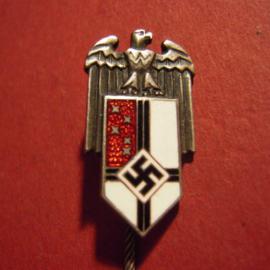 Authentic German silvered + enamel pin - Reichskolonialbund !!  (4678)