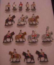 1760 Austrian cuirassiers parade , 15x flat 30mm scale. Herbu  (15563)
