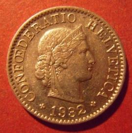 5 Rappen 1932 B      KM26b (11895)