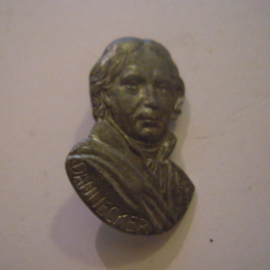 1940/41 German WHW pin Gau Württemberg - Hohenzollern. Famous persons - Dannecker. Metal 30mm T048 (14994)