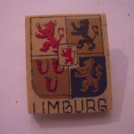 Reichskommisariat Niederlande 1940's WHN Spende. Provinz- & Städtewappen - Limburg. Kunststoffabzeichen mit Nadel 26x22mm T039 (15973)