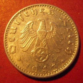 Germany - Third Reich , 50 Reichspfennig 1943 A     J372/KM96 (8111)