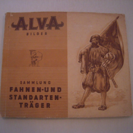 Flag and standart bearers complete with collector cards , album I.  Alva Cigaretten < 1945 (15585)