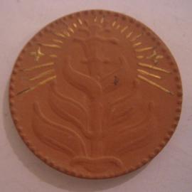 1921 Meissen , Kronachbund Sachsengautag. Gold décor !!! Teichert  Meissen 50mm not in Sch - R !!! (16082)