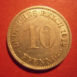10 Pfennig 1912 A      J13/KM12 (6241)