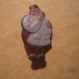 Gau Wien / Vienna 1940's WHW donation pin. Vienna sagas - Küssdenpfennig. Zinc T023 (12829)