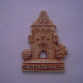 1942-06-27/28 German Red Cross donation gift. Famous city gates - Soest - Osthoventor. Synthetic white with brown patina 40mm T078 (15920)